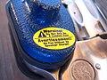 Trigger lock on a revolver - close up of warning.jpg