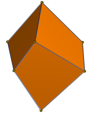 Hexahedron - Image: Trigonal trapezohedron gyro side