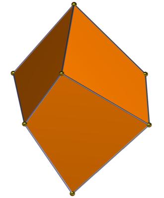 Trigonal trapezohedron - Image: Trigonal trapezohedron gyro side
