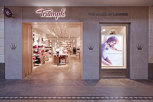 Triumph International - entrance to a Triumph store