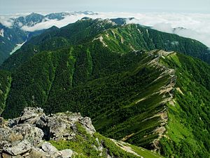 Ridge - A mountain ridge in Japan