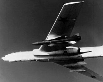 KSR-5 - Tu-16 'Badger-G' with KSR-5 under port wing