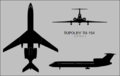 Tupolev Tu-154 three-view silhouette.png