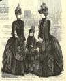 Turnyrklädda damer ur tidningen Idun, nummer 8 den 24e februari 1888.png