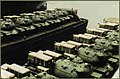 Two barges, each with 6 M48 Patton tanks are clear for loading - NY - 1959.jpg