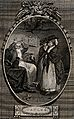 Two women consulting a wizard. Etching by I. Taylor, 1785, a Wellcome V0036022.jpg