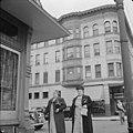 Two women pass corner tavern in Holyoke (October 1941).jpg