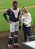 Tyler Flowers and Kelsey Wingert after a game vs the Rockies e at Coors Field - 3.jpg