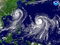 Typhoon Talim and Typhoon Nabi regional imagery, 2005.08.31 at 1125Z. Centerpoint Latitude- 23-38-46N Longitude- 123-24-01E.jpg