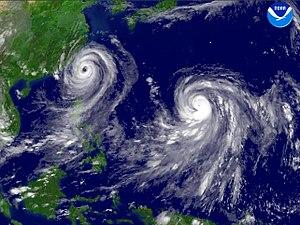 Typhoon Talim and Typhoon Nabi regional imagery, 2005.08.31 at 1125Z. Centerpoint Latitude- 23-38-46N Longitude- 123-24-01E.jpg