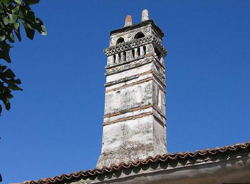 Typical chimney Milas Turkey