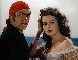 Tyrone Power en Maureen O'Hara in The Black Swan
