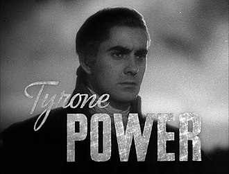 Tyrone Power - Power in a trailer for Marie Antoinette (1938)