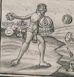 Tzilacatzin - Tzilacatzin as depicted in the Florentine Codex.