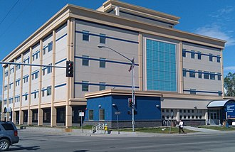 UAF Community and Technical College - UAF CTC main classroom building in downtown Fairbanks.