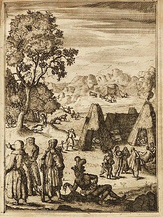 Louis Hennepin - Illustration from the 1688 Dutch edition of Description de la Louisiane