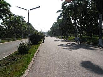 Cape Coast - Main street of the University of Cape Coast