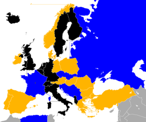 1960 European Nations' Cup qualifying - Image: UEFA Euro 1960 Qualifiers Map