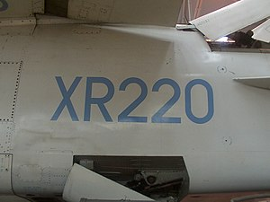 United Kingdom military aircraft serials - XR220 a BAC TSR-2
