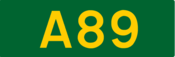 A89 road shield