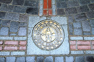 Freedom Trail - Special markers implanted in the sidewalk denote the stops along the Freedom Trail