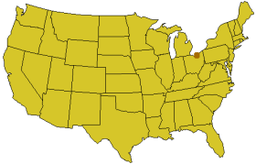 Byens beliggenhed i USA.