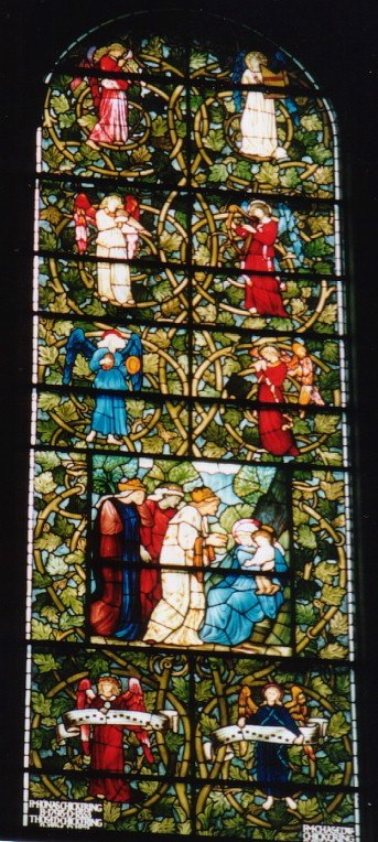 USA Massachusetts Boston Trinity Nativity-window
