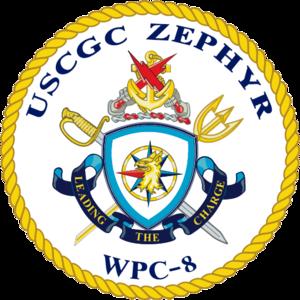 USS Zephyr - Image: USCGC Zephyr WPC 8 Crest