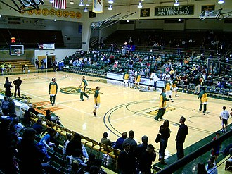 San Francisco Dons - Former interior of War Memorial Gym