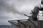 USS Dwight D. Eisenhower conducts a live-fire exercise. (27468556231).jpg