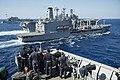 USS Germantown (LSD 42) conducts a replenishment at sea. (29296057862).jpg