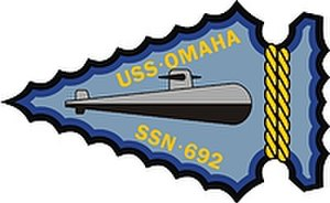 USS Omaha (SSN-692) - Image: USS Omaha SSN 692 Badge