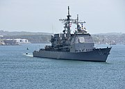 USS Philippine Sea in Plymouth Sound