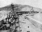USS Roanoke (CL-145) and USS Franklin D. Roosevelt (CVB-42) at Oran, Algeria, in January 1951.jpg