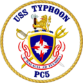 USS Typhoon PC-5 Crest.png