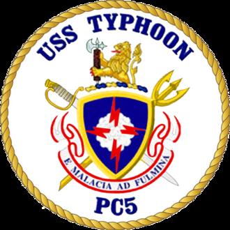 USS Typhoon - Image: USS Typhoon PC 5 Crest