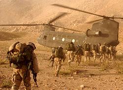 Soldados de la 10ª División de Montaña del Ejército estadounidense en Afganistán.
