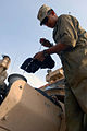 US Army 53568 BAGHDAD - San Antonio native, Pfc. Adolfo Hernandez, a Bradley mechanic assigned to Company B, 2nd Battalion, 5th Cavalry Regiment, 1st Brigade Combat Team, 1st Cavalry Division, checks the engine oil.jpg