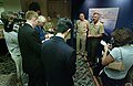 US Navy 041019-N-2383B-121 Chief of Naval Operations (CNO), Adm. Vern Clark and Commandant of the Marine Corps (CMC), Gen. Michael W. Hagee, talk to members of the media after addressing attendees of the Expeditionary Warfare C.jpg
