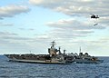 US Navy 051103-N-5345W-128 The Nimitz-class aircraft carrier USS Harry S. Truman (CVN 75) sails alongside the Military Sealift Command (MSC) fast combat support ship USNS Arctic (T-AOE 8) during an early morning vertical replen.jpg