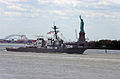 US Navy 060524-N-4936C-006 The guided-missile destroyer USS Ramage (DDG 61) sails pass the Statue of Liberty in New York Harbor headed for a Manhattan pier to participate in the 19th Annual Fleet Week New York City.jpg