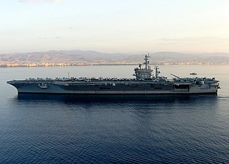 USS Dwight D. Eisenhower - Dwight D. Eisenhower anchors off the coast of the Port of Limassol in the Mediterranean in 2006