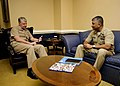 US Navy 080124-N-8273J-003 Chief of Naval Operations (CNO) Adm. Gary Roughead speaks with Master Chief Petty Officer of the Navy (MCPON) Joe R. Campa Jr. during an office call at the Pentagon.jpg