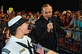 US Navy 090704-N-1928O-372 Mass Communication Specialist 3rd Class Anna Kiner, assigned to the USS Constitution, sings.jpg