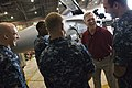 US Navy 090929-N-5549O-124 Secretary of the Navy (SECNAV) the Honorable Ray Mabus greets Sailors assigned to the Valions of Strike Fighter Squadron (VFA) 15 at Naval Air Station Oceana.jpg
