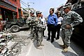 US Navy 100303-N-6278K-317 U.S. Army Lt. Gen. Ken Keen explains to Ambassador Paul what the military is doing in Port-au-Prince.jpg