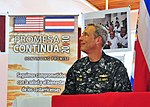 US Navy 100821-N-1531D-052 Capt. Thomas Negus, commodore of Continuing Promise 2010 takes part in a press conference during the opening ceremony of the Costa Rica phase of Continuing Promise 2010.jpg