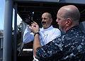 US Navy 100925-N-2821G-034 Rear Adm. Mark D. Guadagnini, left, commander of the Abraham Lincoln Carrier Strike Group,.jpg