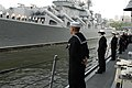 US Navy 110702-N-MU720-089 Sailors man the rails aboard USS Ford (FFG 54) as the ship arrives in Vladivostok, Russia, for a port visit.jpg