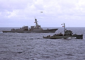 BRP Pangasinan (PS-31) - Image: US Navy 110705 N VY256 028 The guided missile destroyer USS Chung Hoon (DDG 93) and the Armed Forces of the Philippines Navy corvettes